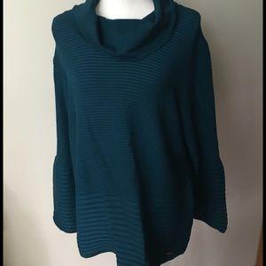 Calvin Klein XL Cowl Neck Bell Sleeve Sweater